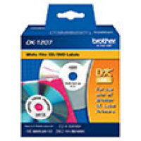 Genuine Brother DK1207 CD/DVD Die-Cut Film Label (100 Labels) (1/Pkg)