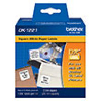 Genuine Brother DK1221 Square White Paper Labels (10/11