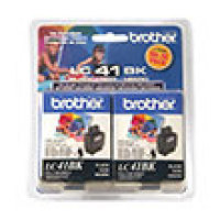 Genuine Brother LC41BK2PKS Black Twin Pack Ink Cartridge