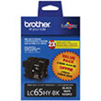 Genuine Brother LC652PKS High Yield Black Twin Pack Ink Cartridge