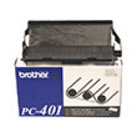 Genuine Brother PC401 Black Fax Cartridge