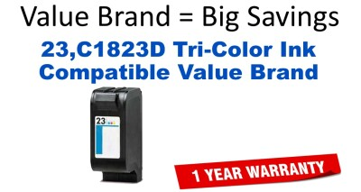 23,C1823D Tri-Color Compatible Value Brand ink