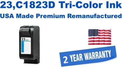 23,C1823D Tri-Color Premium USA Made Remanufactured ink