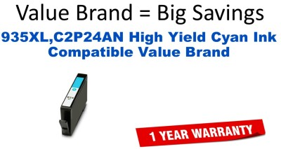 935XL,C2P24AN High Yield Cyan Compatible Value Brand ink