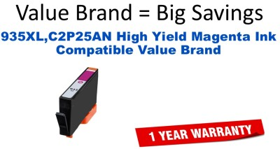 935XL,C2P25AN High Yield Magenta Compatible Value Brand ink