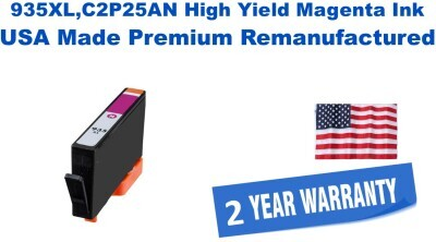 935XL,C2P25AN High Yield Magenta Premium USA Made Remanufactured ink