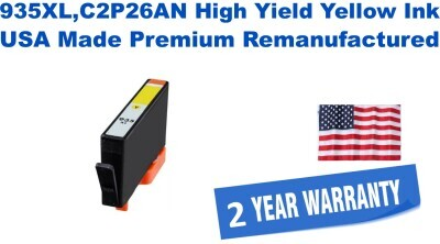 935XL,C2P26AN High Yield Yellow Premium USA Made Remanufactured ink
