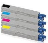 Okidata C3300 New Generic Brand 4 Color Set (K,C,M,Y)  Toner Cartridge
