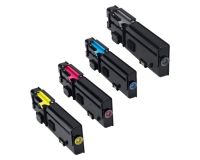DELL C3760DN, C3760N, C3765DNF New Generic Brand 4 Color Set (K,C,M,Y) Toner Cartridge