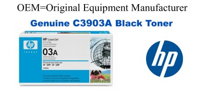 New Original HP 03A Black Toner Cartridge (C3903A)