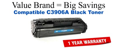 C3906A,06A Black Compatible Value Brand toner