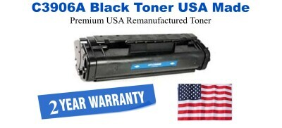 C3906A,06A Black Premium USA Made Remanufactured HP toner
