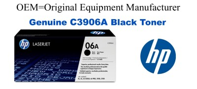 New Original HP 06A Black Toner Cartridge (C3906A)