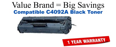 C4092A,92A Black Compatible Value Brand toner