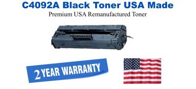C4092A,92A Black Premium USA Made Remanufactured HP toner