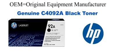 C4092A,92A Genuine Black HP Toner