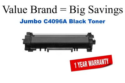 C4096A,96A Jumbo Black Compatible Value Brand HP Jumbo Toner 50% Higher Yield