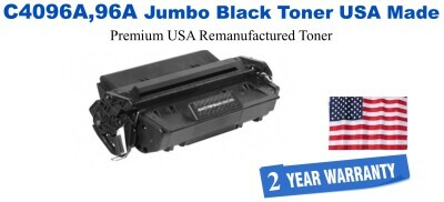 C4096A,96A Jumbo Premium USA Made Remanufactured HP Toner 50% Higher Yield