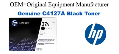 New Original HP 27X Black Toner Cartridge (C4127A)