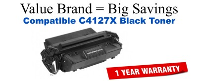 C4127X,27X High Yield Black Compatible Value Brand toner