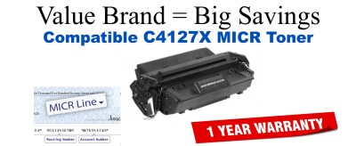 C4127X,27X MICR Compatible Value Brand toner