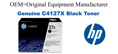 New Original HP 27X Black Toner Cartridge (C4127X)