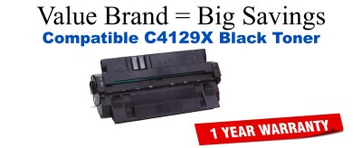 C4129X,29X High Yield Black Compatible Value Brand toner