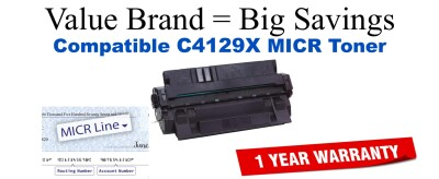C4129X,29X MICR Compatible Value Brand toner