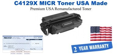 C4129X,29X MICR USA Made Remanufactured toner