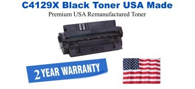 C4129X,29X High Yield Black Premium USA Made Remanufactured HP toner