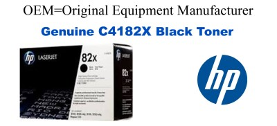 New Original HP 82X Black Toner Cartridge (C4182X)
