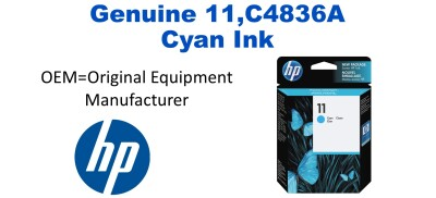 New Original HP 11 Cyan Ink Cartridge (C4836A)
