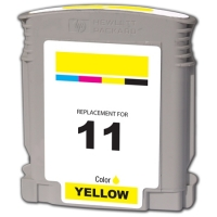 HP 11 Yellow Remanufactured Ink Cartridge (C4838A)