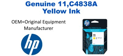 New Original HP 11 Yellow Ink Cartridge (C4838A)
