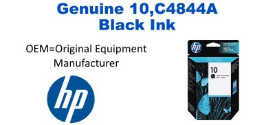 New Original HP 10 Black Ink Cartridge (C4844A)