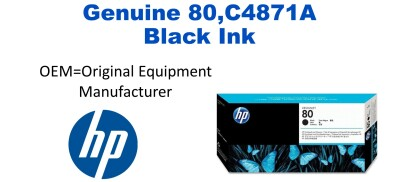 New Original HP 80 Black Ink Cartridge (C4871A) (#80)