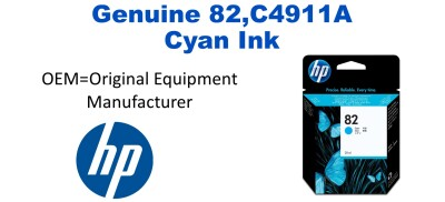 New Original HP 82 Cyan Ink Cartridge (C4911A) (#82)