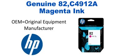 New Original HP 82 Magenta Ink Cartridge (C4912A) (#82)