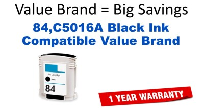 HP 84 Black Remanufactured Ink Cartridge (C5016A) (#84)
