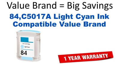 HP 84 Light Cyan Remanufactured Ink Cartridge (C5017A) (#84)