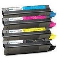 Okidata C5100 New Generic Brand 4 Color Set (K,C,M,Y) Toner Cartridge