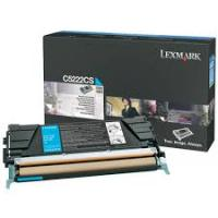 Genuine Lexmark C5222CS Cyan Toner Cartridge (3,000 Yield)