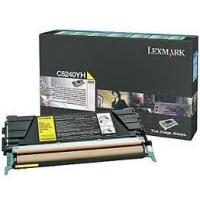 Genuine Lexmark C5240YH Yellow High Yield Toner (5,000 Yield)
