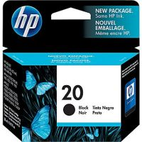 New Original HP 20 Black Ink Cartridge (C6614DN) (#20)