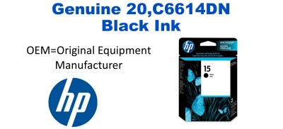 New Original HP 15 Black Ink Cartridge (C6615DN)