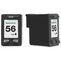 HP 56 Black Remanufactured Ink Cartridge (C6656AN) (#56)