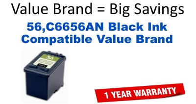 56,C6656AN Black Compatible Value Brand ink