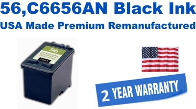 56,C6656AN Black Premium USA Made Remanufactured ink