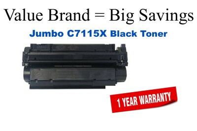 HP 15X Black Remanufactured Jumbo Toner Cartridge (C7115X)