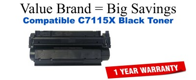 HP 15X Black Remanufactured Toner Cartridge (C7115X)